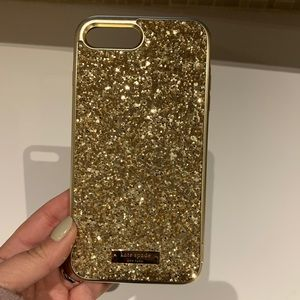 Kate Spade Gold Sparkle iPhone Case